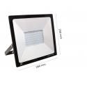 Светодиоден LED прожектор 100W 6000К IP65 RECORD Slim