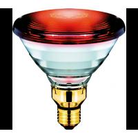 Инфра лампа PAR38 R125 175W червено стъкло PHILIPS