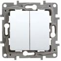 Ключ двоен сх.5 механизъм LEGRAND NILOE бял 664506